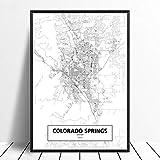 Leinwanddruck,Colorado Springs Schwarz Weiß