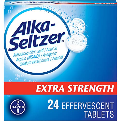 Alka-Seltzer Effervescent Extra Strength - 24 Tablets, Pack of 2