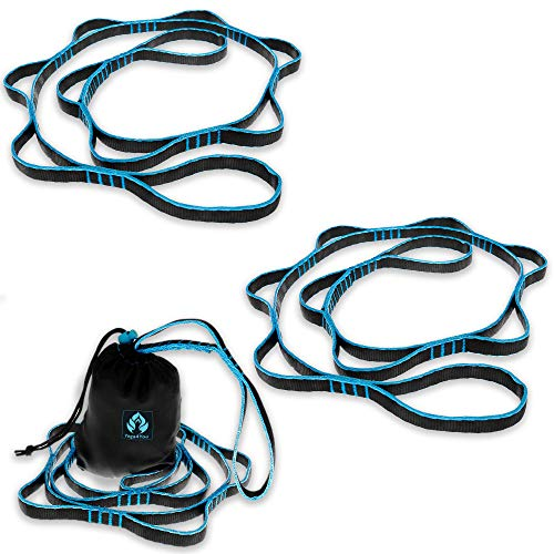 Save %53 Now! Aerial Yoga Hammock Daisy Chains - Yoga Swing Rope - Yoga Hanging Trapeze Extension St...