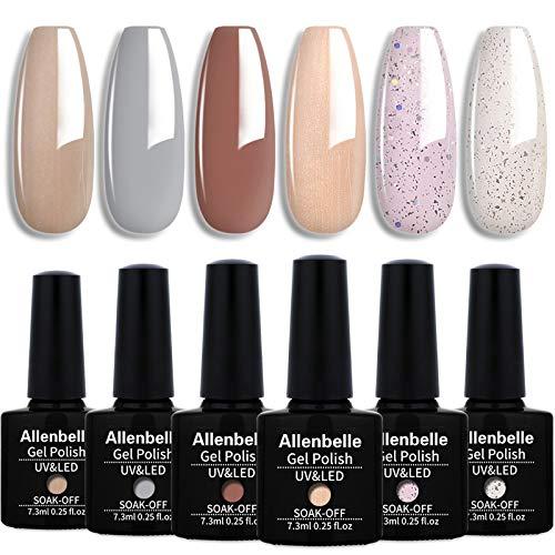 Allenbelle Esmaltes Permanentes Para Uñas Nail...