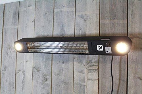 Heizstrahler Elegance mit LED Beleuchtung – 1500 Watt – Schwarz – Deckemontage - 3