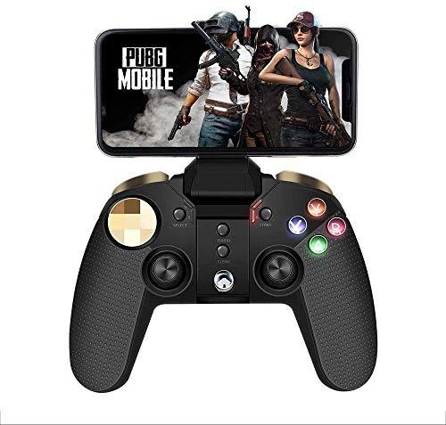 YUYANDE Mobiler Spielcontroller, drahtloser Controller, RGB-Beleuchtung Gamepad, Unterstützung für Android, XCloud, Tablet, TV-Box, PC, schwarz