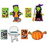 Make Your Own Jack-O-Lantern,Mummy,Witch,Monster Hunt Craft Stickers Kids Halloween Decorations 16pcs