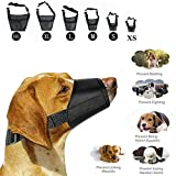 H & H Traders Adjustable Dog Safety Muzzle Muzzel Biting Barking Chewing Choose from 6 Sizes (X small)