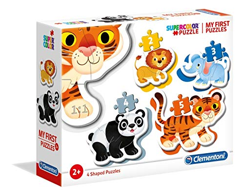 Clementoni- My First Puzzle-Wild animals-3-6-9-1, Multicolore, 20810