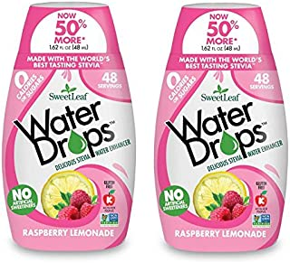 Sweetleaf Stevia Natural Water Drops Raspberry Lemonade, 1.62 Ounce (Pack of 2)