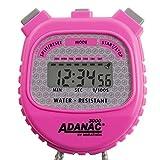 Marathon ADANAC 3000 Digital Stopwatch Timer, Water Resistant, Battery Included (Neon Pink)