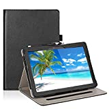 Transwon Case for Yi-018 Tablet, CWOWDEFU F11W Tablet 10.1, Hyundai Koral 10X3 10 Inch Tablet, MANJEE Tab-101, LLLtrade 10 Inch Android Google Tablet, YELLYOUTH YY101S, AOYODKG A22, MEBERRY 10 - Black