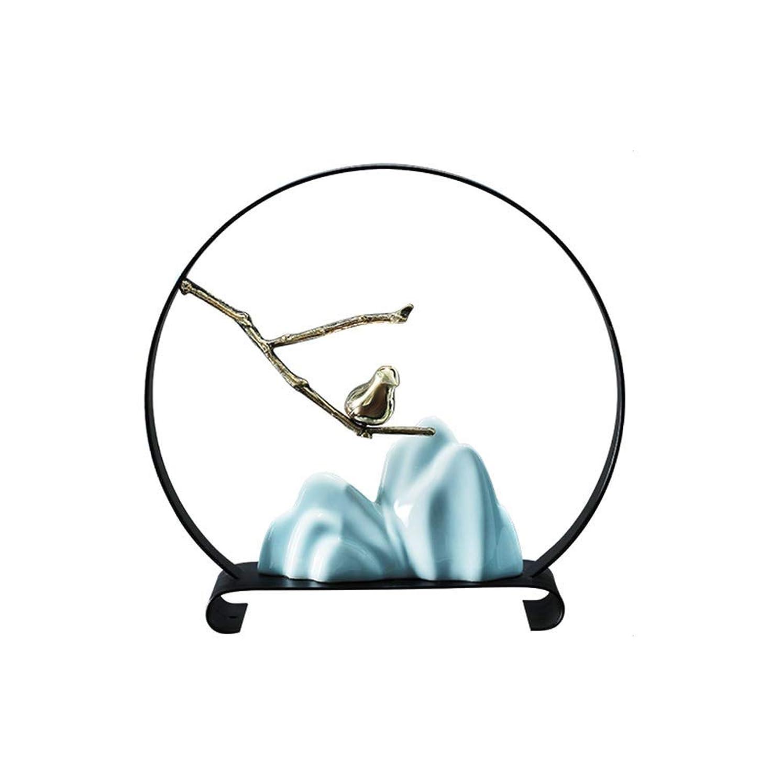 航海バンジージャンプのために鳥の装飾、セラミックRockery鳥の装飾品銅支店テレビキャビネットモデルルームホワイエポーチ装飾工芸品