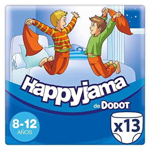Dodot Happyjama Pañales 8 a 12 Años Niño, Ropa Interior Absorbente, 13 Unidades