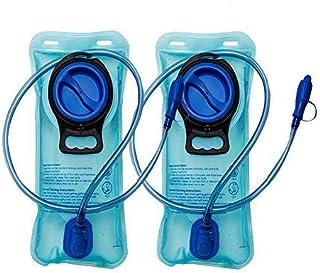 2 Paquetes Vejiga de hidratación de 2 litros - Depósito de Agua de Repuesto Resistente - Tapón a Prueba de Fugas - Lo Mejo...