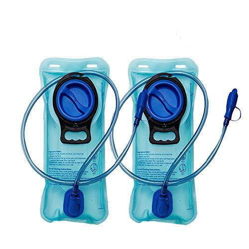 2 Paquetes Vejiga de hidratación de 2 litros - Depósito de Agua de Repuesto Resistente - Tapón a Prueba de Fugas - Lo Mejor para Practicar Senderismo, Acampar, Ciclismo, Caza