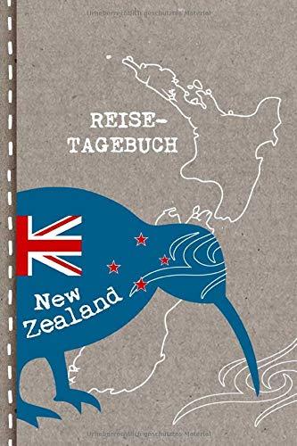 Reisetagebuch: Neuseeland Tagebuch zum Selberschreiben - Abschiedsgeschenk für Reise, Auslandsjahr, Aupair, Auslandssemester, Auswanderung - Checklisten, Punktraster Notizbuch / Abschiedsbuch Geschenk