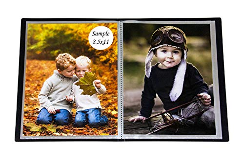 2PO Portfolio - Presentation Display Photo Album Holds 48 Pictures, Space Saver Album with Slip-in Pockets 8.5 by 11 Inch