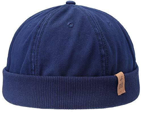 Michael Heinen Docker, berretto da porto, cappello da pescatore, taglia unica, con chiusura in velcro Navy slavato Taglia unica