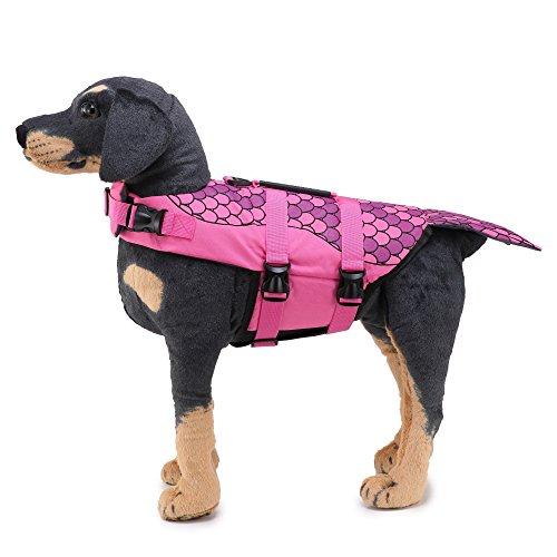 Modow zwemring voor honden, zwemvest voor zwemkleding, saver voor waterveiligheid in het zwembad, strand, roeien, zwemvesten met drijfkracht en bovenste reddingsgreep, huidvriendelijk en duurzaam.