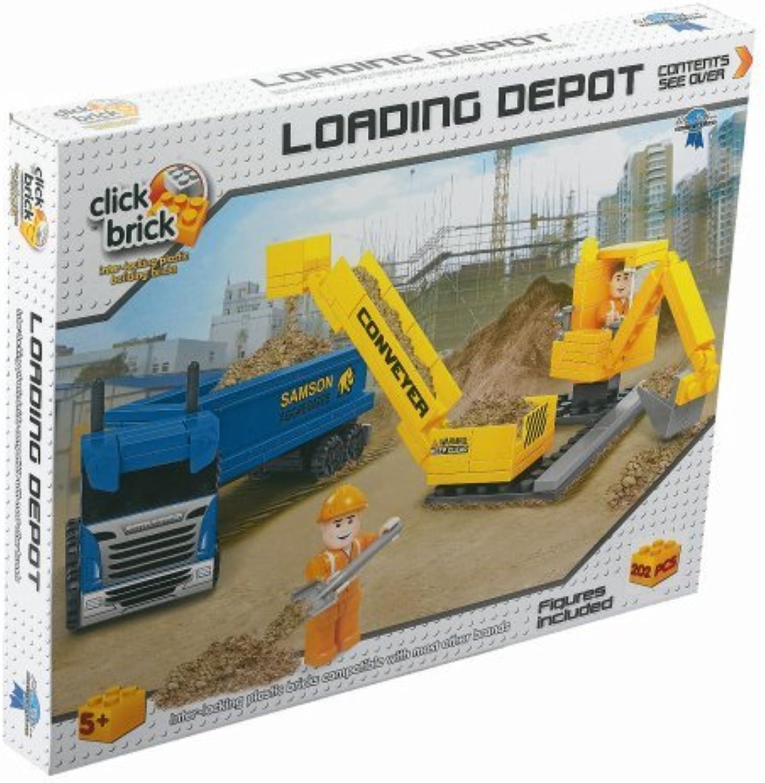 Click Bricks Loading Depot Set (202Piece) by Click Bricks