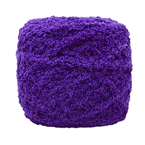 GingTA Knitting Crochet Yarn Soft Coral Velvet Yarn,The Original Solid Yarn Perfect for Mini Knitting and Crochet Project (D4)