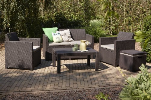 Allibert Lounge-Set Merano 4tlg, braun/taupe - 2