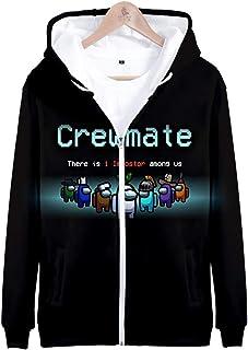 Takyojin Uniseks Amomg Us Hoodie Impostor Crewmate Cosplay Pullover Sweatshirt Cosplay Kostuum Lange Mouwen Among Us kostu...