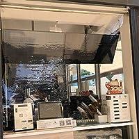 Store Jour Nuit Store Occultant 継手付き透明プラスチックローラーブラインド、PVC防水クリアローラーシェード 銀行/サロン/レセプションカウンター用 (Size : 140x120cm)