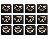 12枚 方型香炉不燃綿 難燃綿 横置き香炉用防火綿 防火シート燃材 耐熱 断熱 蚊取り線香ホルダー用 線香皿用 (正方形/ 7.5cm)