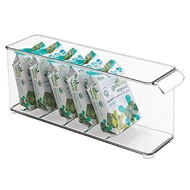 mDesign Refrigerator, Freezer, Pantry, Cabinet Organizer Bin for Kitchen Storage - 14.5  x 4  x 5.75 , Clear