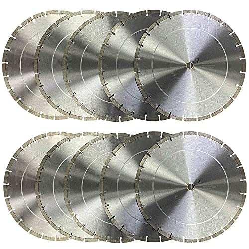 (10 Pack) 14 inch Dry or Wet Cutting General Purpose Segmented High Speed Diamond Saw Blades for Concrete Stone Brick Masonry (14