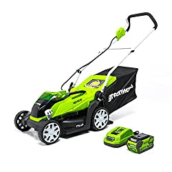 professional Greenworks 14 inch cordless lawn mower, 40 V, 4.0 Ah battery (including MO40B410)