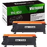 Victoner Compatible Toner Cartridge Replacement for Brother TN450 TN-450 TN420 TN-420 Toner for Brother HL-2270DW HL-2280DW MFC-7860DW MFC-7240 HL-2240 MFC-7360N DCP-7065DN Toner (Black, 2-Pack)
