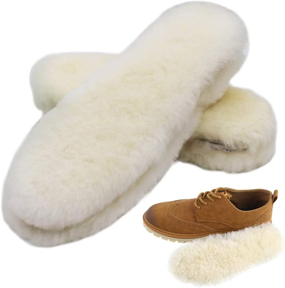 Bacophy 2 Pairs Genuine Thick Insoles Fleece Women for low-pricing Ranking TOP19 Sheepskin