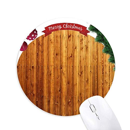 Orange Holz Boden Wallpaper Textur Rund Gummi Maus Pad Weihnachtsbaum Mat