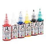 SUDOR Monalisa Tie Dye Kit 6 x 40 ml di colori Batik, colori per tessuti, abbigliamento per bambini, adulti e hobby (colori lattici, 6 colori)