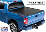 Gator EFX Hard Tri-Fold Truck Bed Tonneau Cover | GC34008 | Fits 2019 - 2020 New Body Style Dodge Ram 1500 w/out RamBox, Does Not Fit With Multi-Function (Split) Tailgate 5' 7' Bed | Made in the USA