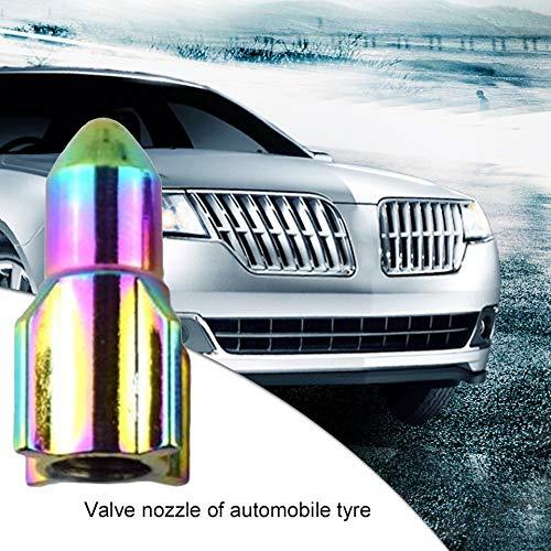 Emilyisky Car Styling Ruedas Neumáticos Válvula Tapas Antipolvo Auto Moto Tapas de vástago Forma de Cohete Multicolor