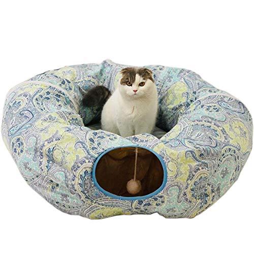 Ccgdgft kat speelgoed opvouwbare kat tunnel, kat kanaal huisdier nest, Roll de draak kat nest kat bed milieubescherming gemakkelijk warm voor puppy, Kitty, Kitten, konijn binnen buiten spelen, 5