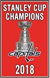 Washington 2018 Stanley Cup Champions 3'x5' Flag Capitals Champs Banner