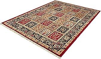 PEARL CARPET & Rugs Super Soft Carpet for Living Room & Bedroom Size - 4 X 5 Ft (Red & Multi)