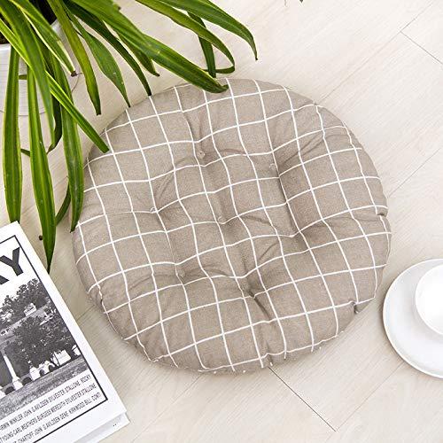 Juego de 4 cojines de asiento para silla de 40 x 40 cm, cojines para silla de jardín, balcón, terraza, asiento de jardín, (redondos, f)
