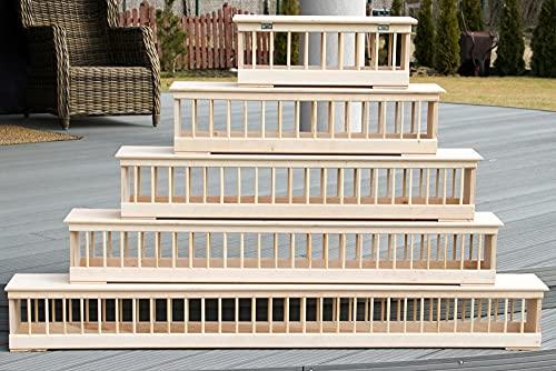 AGROHIT Futtertrog-Futterraufe-Taubentrog aus Holz 50/60/70/75/100/120/150 cm (50cm)