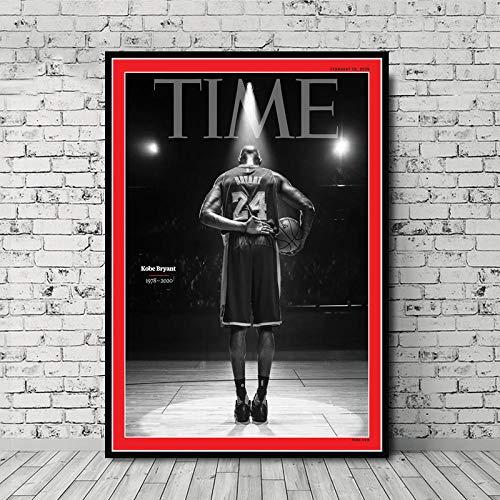 WADPJ NBA Star Kobe Bryant Poster Canvas Painting Modern Sports Basketball Living...