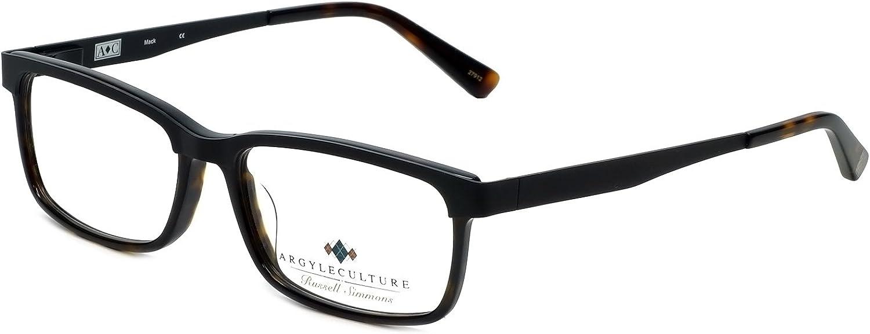 Argyleculture by Russell Simmons Eyeglasses Mack in Black-Tortoise 55mm