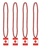 Beistle S57229AZ4 Necklaces Party Favors, Red/White