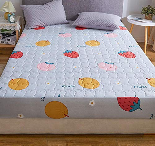 XLMHZP Breathable Mattress Protector,Quilted Fitted Waterproof Mattress Cover Different Sizes mattress protective floor sheet style cover mattress thick-E_200x220cm+30cm