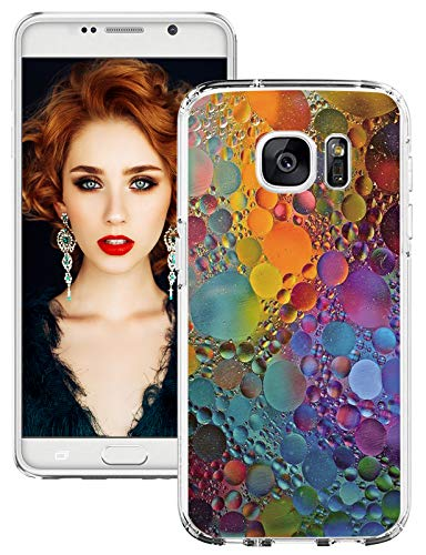 S7 Hülle Kompatible mit Samsung Galaxy S7 Handyhülle Silikon Superdünn Hülle S7 Tasten Marmor Durchsichtig Schutzhülle S7 Transparent Silikonhülle Weich Tasche Kratzschutz Cover für Galaxy S7 Hüllen