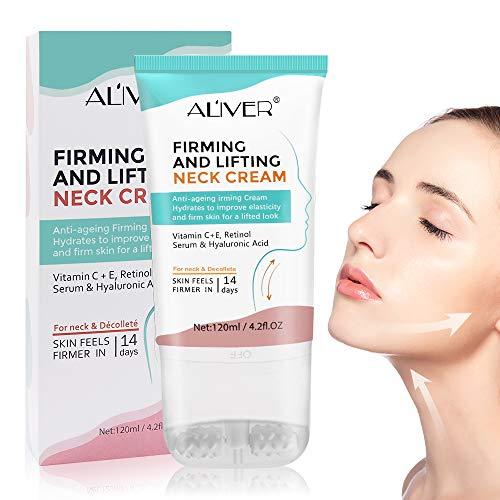Crème Pour Le Cou, Neck Cream, Crème Cou et Décolleté, Crème Pour Le Cou Raffermissante, améliore l'élasticité, peau lisse anti-rides, Resserre la peau du cou 120g.