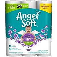 Angel Soft, Toilet Paper, Lavender Scent, 12 Double Rolls