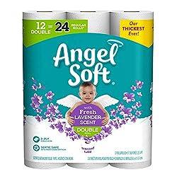 Angel Soft   Toilet Paper, Lavender Scent, 12 Double Rolls, 12 = 24 Regular Rolls