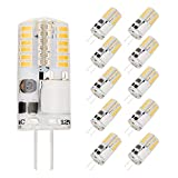 AHEVO G4 LED Light Bulbs 3W 12V AC DC 3000K, Replaces 20-30W Halogen Lamps (10 Pack,Warm White)