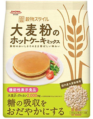 昭和 大麦粉のホットケーキミックス 200g[機能性表示食品]×5個